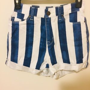 BDG Urban Outfitters Striped Mom High Rise Shorts